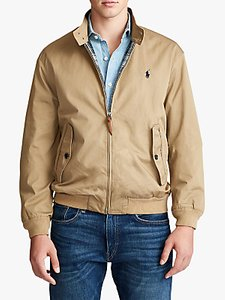 Read more about Polo ralph lauren barracuda cotton twill lined jacket luxury tan