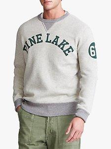 Read more about Polo ralph lauren fleece graphic sweatshirt light vintage heather