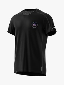 Read more about Adidas own the run club short sleeve running top black