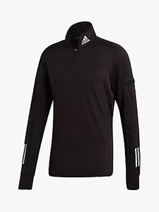 Read more about Adidas own the run 1 2 zip warm running sweatshirt black