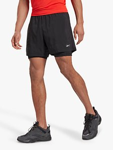 Read more about Reebok running essentials 2-in-1 running shorts black