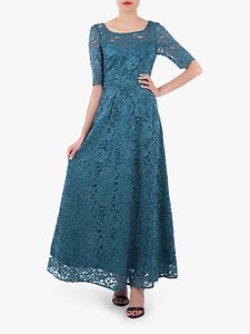 Read more about Jolie moi floral lace tie back maxi dress teal