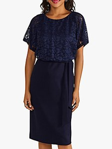 Read more about Yumi lace bodice dress navy