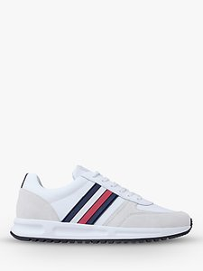 Read more about Tommy hilfiger suede leather trainers white