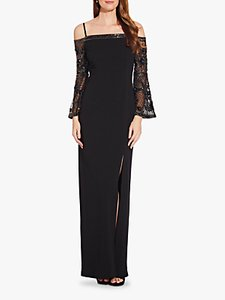 Read more about Adrianna papell beaded off shoulder maxi dress black