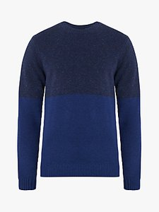Read more about Jaeger donegal crew neck knit jumper navy