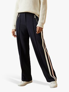Read more about Ted baker mayble side stripe wide leg trousers dark blue