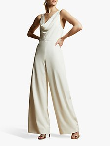Read more about Ted baker cowl neck wide leg jumpsuit white