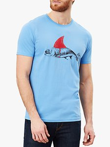 Read more about Joules flynn fish graphic cotton t-shirt powder blue