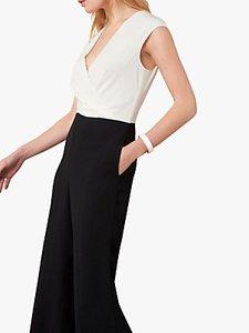 Read more about Jaeger wrap front silk blend jumpsuit black white