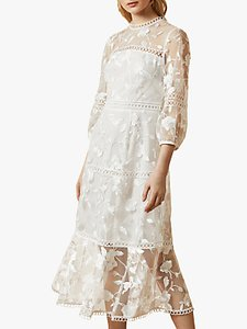 Read more about Ted baker tabii tiered lace midi dress natural ivory
