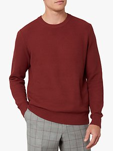 Read more about Jaeger cotton honeycomb crew neck jumper red