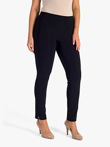 Read more about Chesca side slit bonded jersey trousers navy
