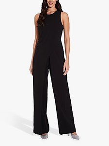 Read more about Adrianna papell wide leg sleeveless jumpsuit black
