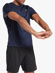 Read more about Reebok running essentials short sleeve running top vector navy