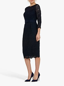 Read more about Helen mcalinden michelle lace midi dress navy