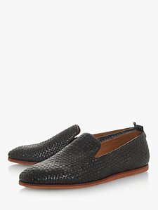 Read more about Bertie bayron woven leather slipper loafers black