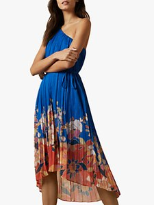 Read more about Ted baker dahlari cabana pleated one shoulder midi dress bright blue