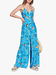 Read more about Hush vallone butterfly floral print wide leg jumpsuit blue