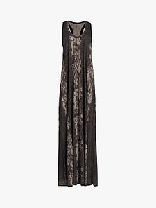 Read more about Allsaints ami animal print maxi dress olive green