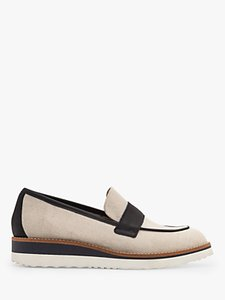 Read more about Boden betty linen canvas and leather loafers natural navy