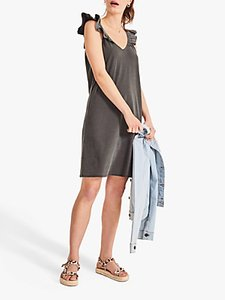 Read more about Hush frill shoulder sleeveless v-neck mini dress black