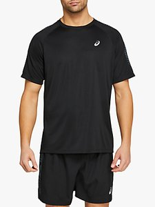 Read more about Asics icon short sleeve running top performance black carrier grey
