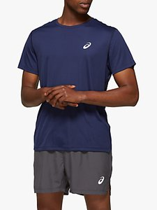 Read more about Asics silver short sleeve running top