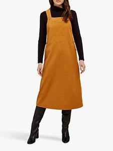 Read more about People tree mindy cord pinafore midi dress brown