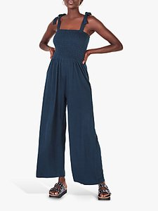 Read more about Hush shirred wide leg jumpsuit midnight