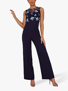 Read more about Chi chi london novah embroidered bodice jumpsuit navy