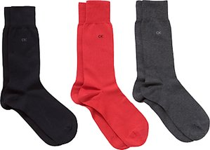 Read more about Calvin klein cotton dress socks pack of 3 one size multi