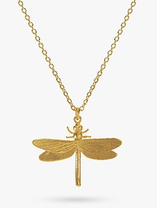 Read more about Alex monroe dragonfly pendant necklace gold