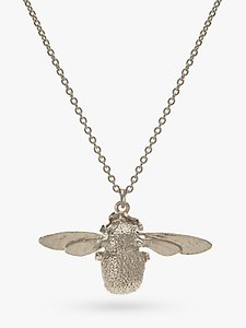 Read more about Alex monroe sterling silver bumble bee pendant necklace silver