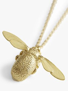 Read more about Alex monroe 22ct gold vermeil bumble bee pendant necklace gold