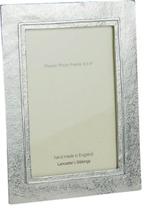 Read more about Lancaster and gibbings raised line pewter photo frame 4 x 6 10 x 15cm