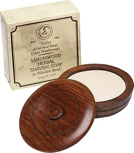 Read more about Taylor of old bond street sandalwood shaving soap with wooden bowl 100g