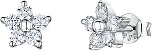 Read more about Jools by jenny brown cubic zirconia flower stud earrings silver
