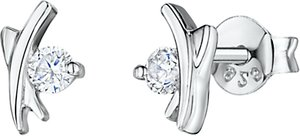 Read more about Jools by jenny brown cubic zirconia kiss stud earrings silver
