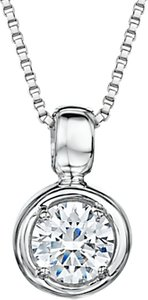 Read more about Jools by jenny brown cubic zirconia round pendant necklace silver