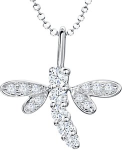 Read more about Jools by jenny brown cubic zirconia dragonfly pendant necklace silver