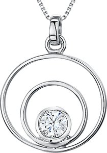 Read more about Jools by jenny brown cubic zirconia 2 oval pendant necklace silver