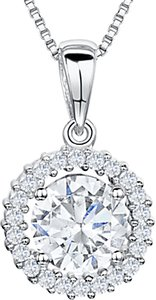 Read more about Jools by jenny brown cubic zirconia pendant necklace silver