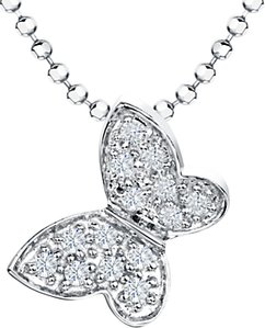 Read more about Jools by jenny brown cubic zirconia butterfly pendant necklace silver