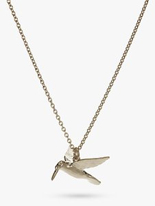 Read more about Alex monroe hummingbird pendant necklace silver