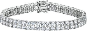 Read more about Jools by jenny brown 2 row cubic zirconia tennis bracelet