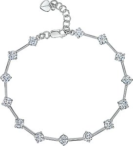 Read more about Jools by jenny brown silver cubic zirconia rounds bracelet