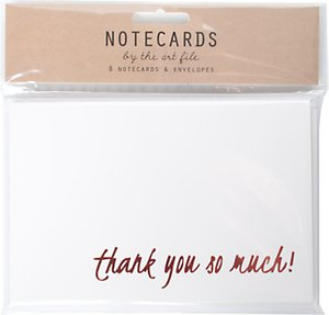 Read more about Art file foiled thank you notecards pack of 8