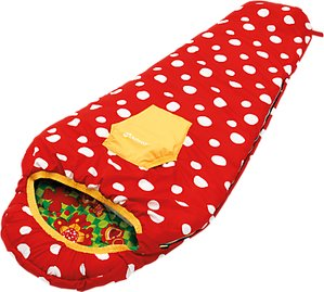 Read more about Outwell butterfly girl sleeping bag red green yellow