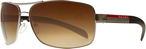 Read more about Prada linea rossa ps541s aviator sunglasses brown